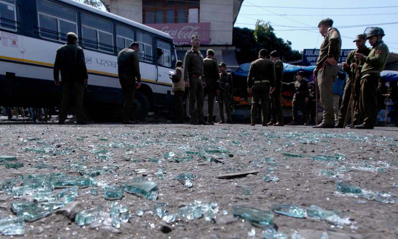 Powerful blast rocks Jammu bus stand