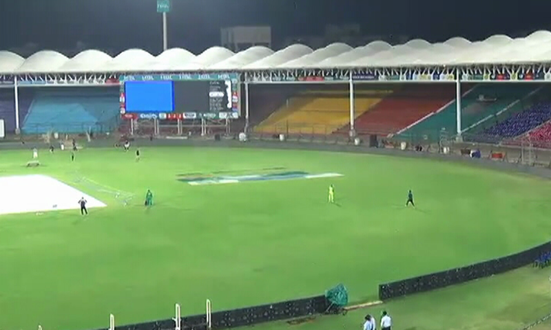 Amid tight security arrangements, the first match of the Pakistan-leg of Pakistan Super League (PSL) between Lahore Qalandars and Islamabad United is set to begin at Karachi's National Stadium on Saturday at 7 pm. — DawnNewsTV