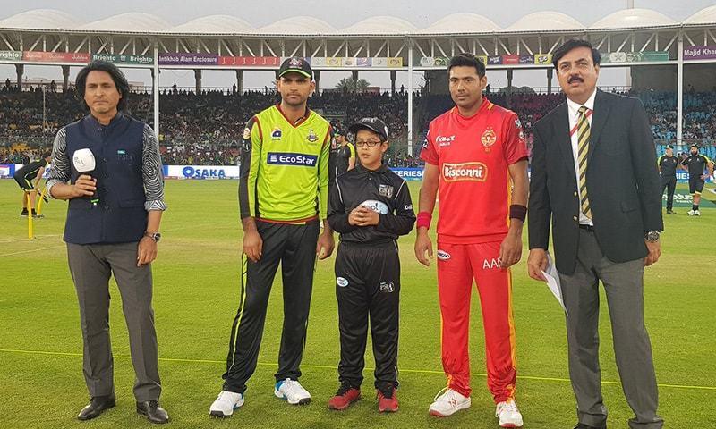 Qalandars opt to bowl first after winning the toss in their final group fixture of PSL 2019. — PSL