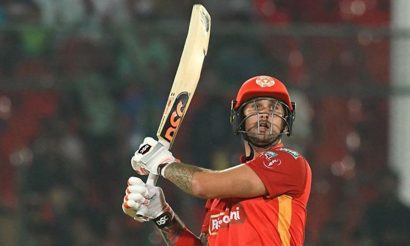 Delport took the attack to Lahore bowlers early on. — PSL
