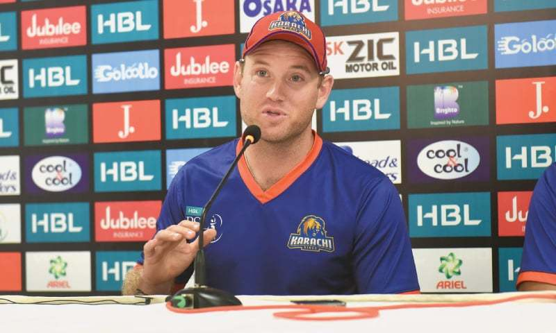 COLIN Ingram talks to reporters at the presser on Saturday.—White Star