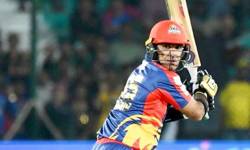 Iftikhar Ahmed pushed the total to a sizable figure for Karachi Kings to defend. — PSL