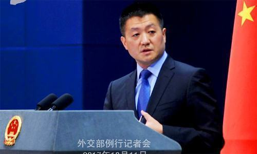 """Lu Kang, Chinese foreign ministry spokesperson, says China """"will continue to communicate with relevant parties"""" responsibly. — AFP/File"""