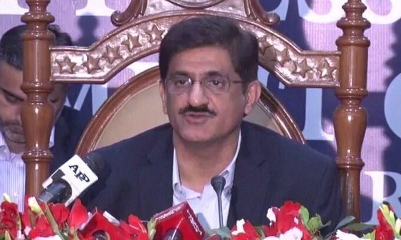 Sindh Chief Minister Murad Ali Shah— DawnNewsTV/File