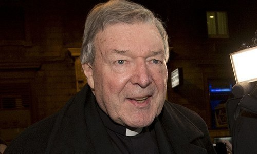"""Pell is sentenced to six years in prison for sexually abusing two choirboys in 1996-1997, with the judge describing the crime as """"brazen"""" and a """"grave"""" abuse of power. — AFP/File"""
