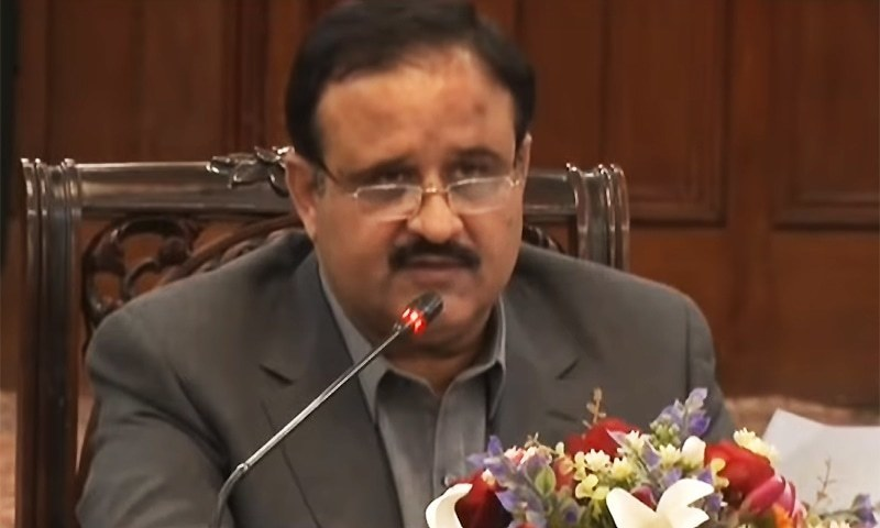 """Punjab Chief Minister Usman Buzdar says """"people would not have to travel long distances to get their issues solved"""". — DawnNewsTV/File"""