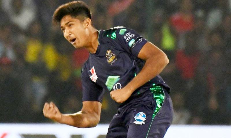 Mohammad Hasnain for Quetta Gladiators. ─ Photo courtesy PSL Twitter
