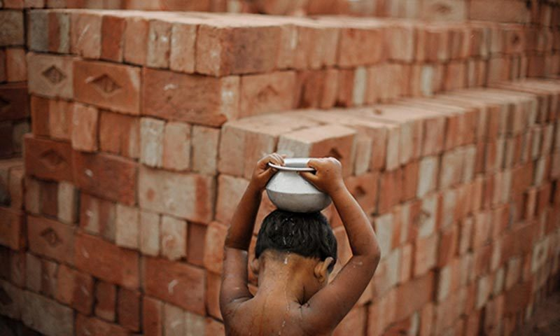 Police carry out raid on a brick kiln near the Hayat Pitafi area at around dawn. — AFP/File