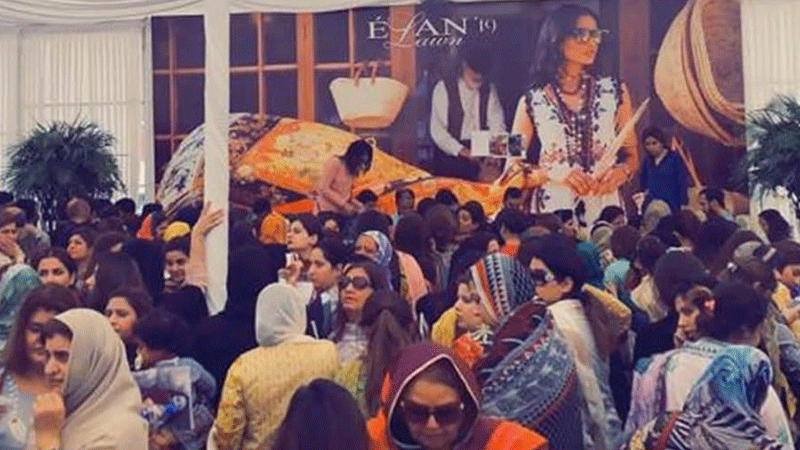 Élan's lawn launch caused a frenzy and Khadijah Shah has something to say about it