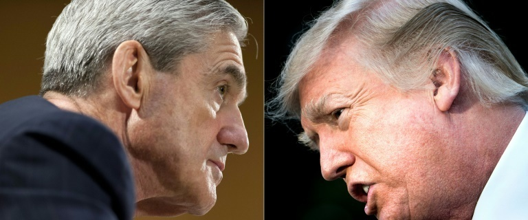 "President Donald Trump has repeatedly denied any collusion between his campaign and Moscow, and labelled Robert Mueller's investigation an ""illegal witch hunt"". — AFP"