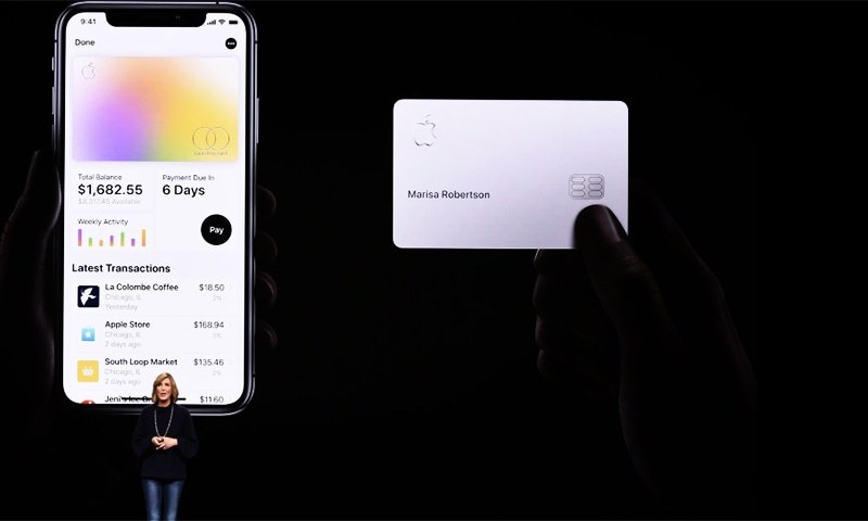 Jennifer Bailey, vice president of Apple Pay, speaks during an Apple product launch event at the Steve Jobs Theater at Apple Park on March 25, 2019 in Cupertino, California.— AFP