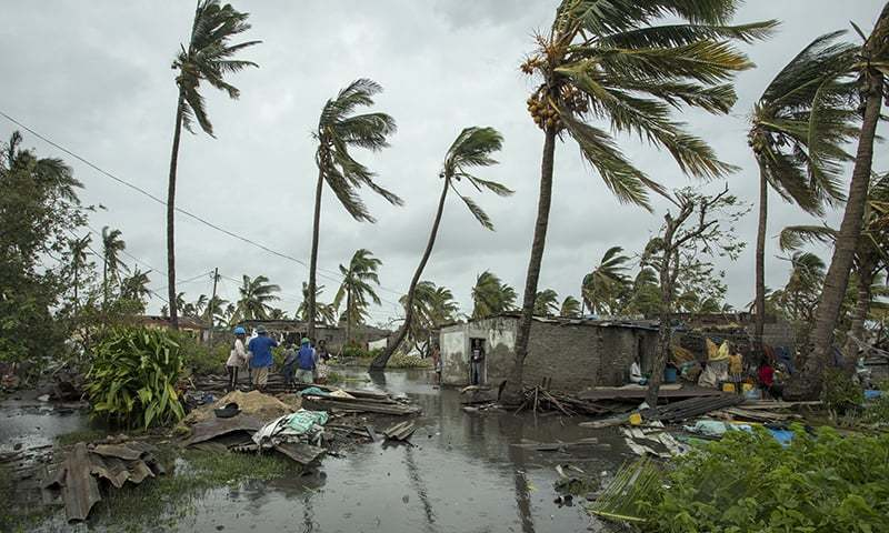 Cyclone Idai hit Mozambique's coast before battering Zimbabwe — killing more than 700 people across the two nations. — AFP/File