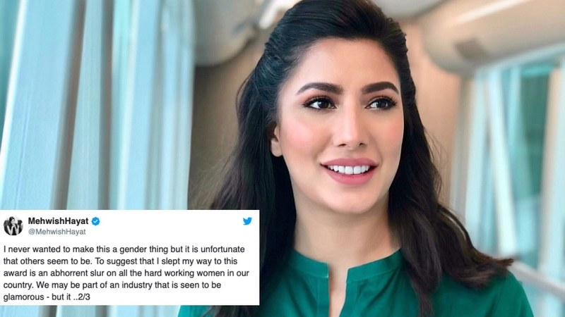 The actress hit back at trolls on Twitter, who begin to cast doubts on a woman's character the moment she wins an award.