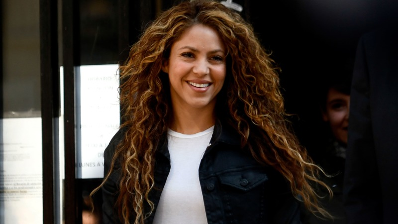 Colombian singer Shakira leaves a court in Madrid on March 27, 2019. — AFP