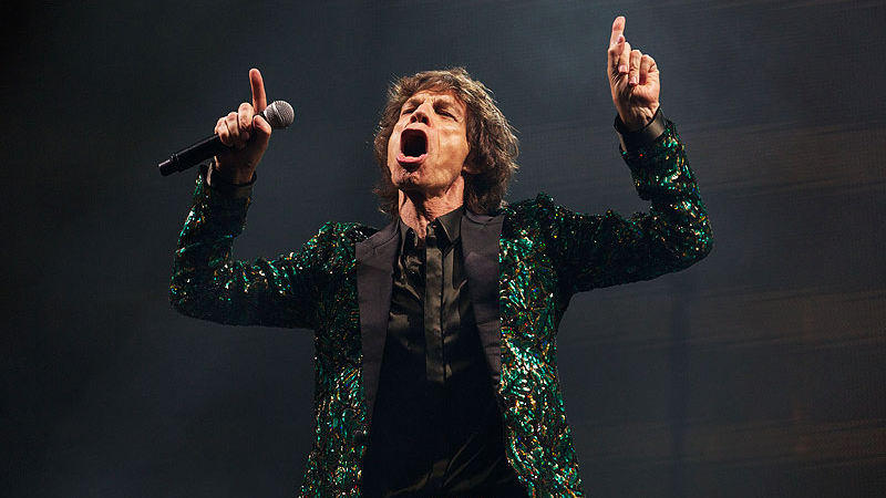 Mick Jagger performs on the Pyramid Stage. - Photo by AFP/File