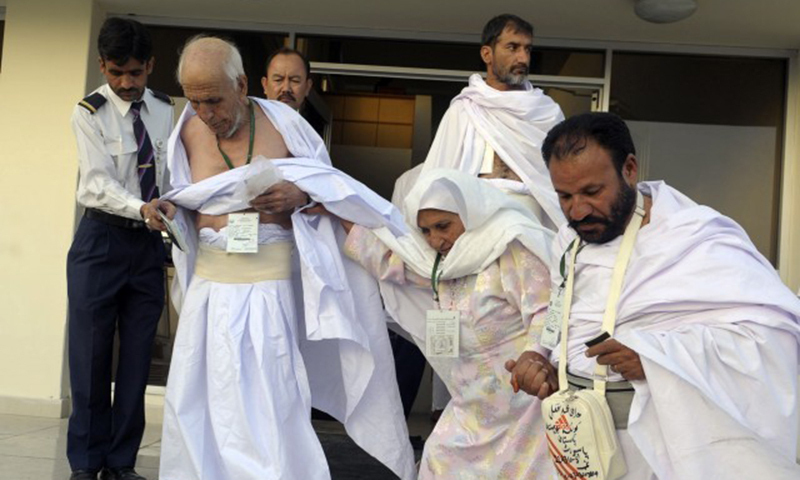 The clearance of Haj pilgrims at Pakistani airports will save several hours being spent previously at Saudi airports.— AFP/File
