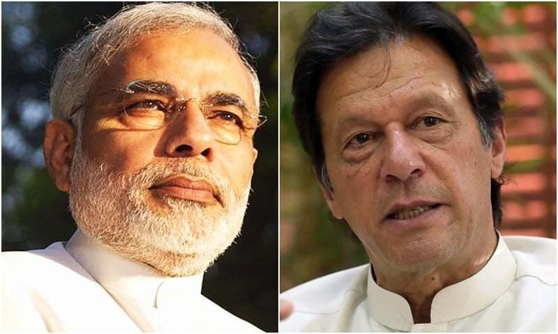 Indian Prime Minister Narendra Modi (L) and Prime Minister Imran Khan. — AFP