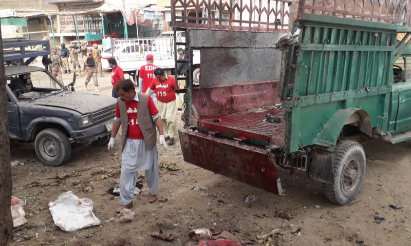 Rescue teams, police and Frontier Corps personnel have reached the site of the blast. ─ DawnNewsTV
