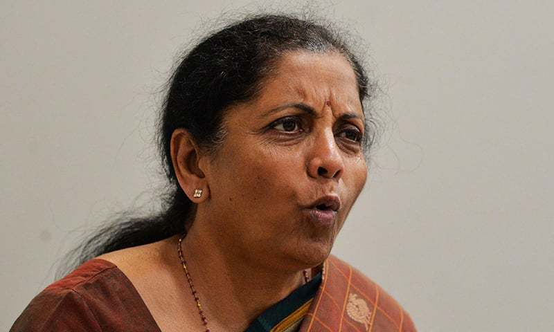 In this photograph taken on April 9, 2019, Indian Defence Minister Nirmala Sitharaman speaks with an AFP reporter at the Bharatiya Janata Party (BJP) headquarters in New Delhi. — AFP