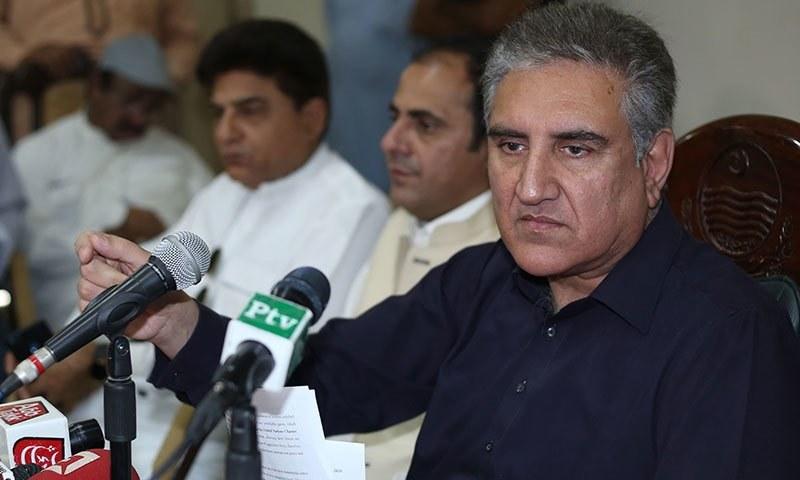 شاہ محمود قریشی کہا کہ معیشت میں ٹھہراؤ آنا شروع ہو گیا ہے— فائل فوٹو: اے ایف پی
