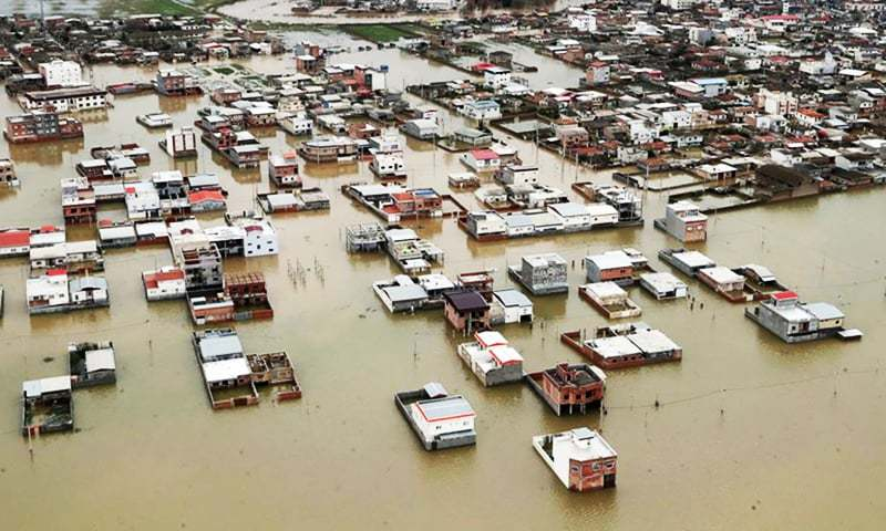 A handout picture provided by the Iranian presidency shows areas affected by floods in the country's northeastern Golestan region. — AFP/File