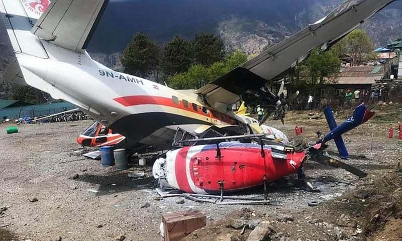 ایئرپورٹ حکام کے مطابق حادثے کی وجوہات کے حوالے سے کچھ بھی کہنا قبل از وقت ہوگا — فوٹو: اے ایف پی