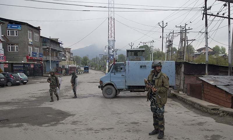 India votes in second phase with Kashmir on lockdown