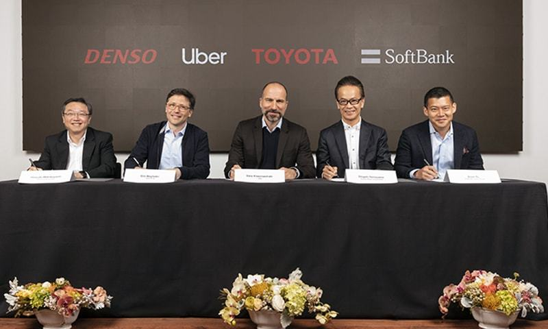 Toyota, Denso, SoftBank to invest $1 billion in Uber's advanced technologies