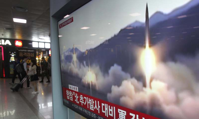 Satellite image shows N. Korean missile launch
