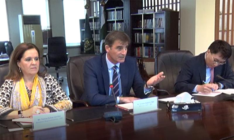 آئی ایم ایف وفد سے ملاقات میں صوبائی حکام بھی موجود تھے—فوٹو: وزارت خزانہ