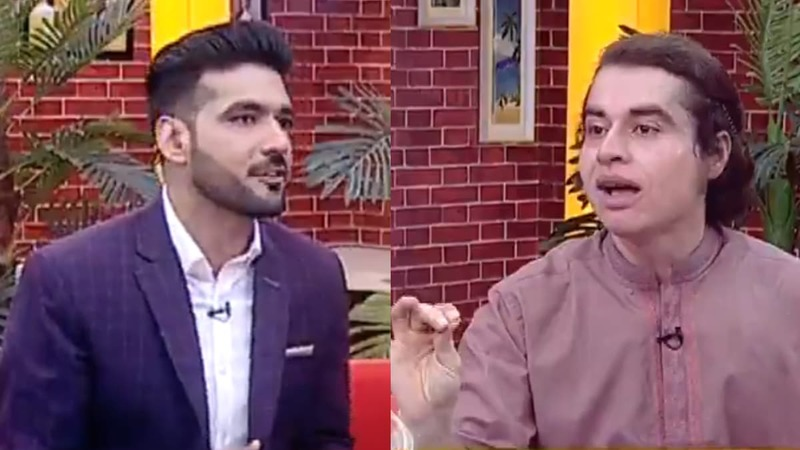 Host Muhammad Shuaeb became verbally aggressive towards his guest.
