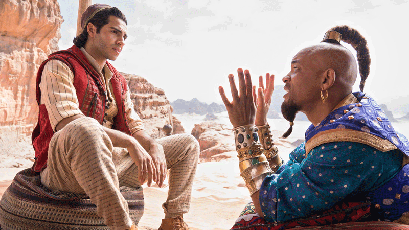 Aladdin has outperformed Disney's pre-opening domestic projections.