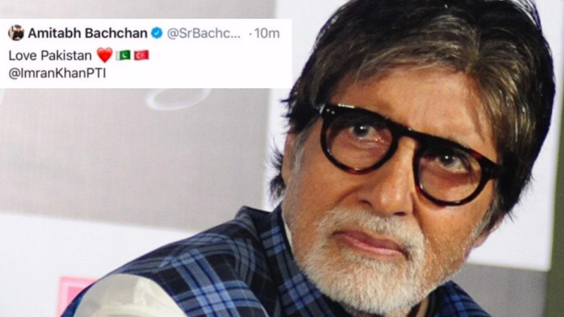 The Indian celeb's Twitter account was updated with a picture of Pakistani PM Imran Khan