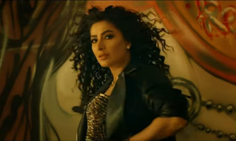 Mehwish Hayat shows off her dance moves in the new song.