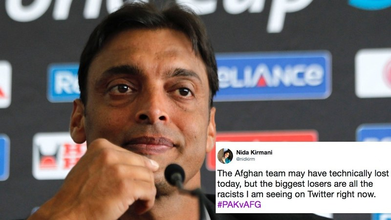 The former cricketer had released a distasteful video before yesterday's match and Twitter is calling him out on it