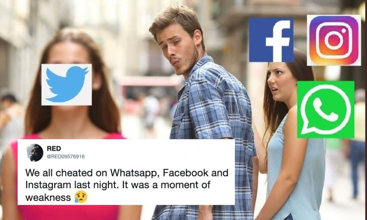 Twitter became the king of social media when Instagram, Whatsapp and Facebook crashed
