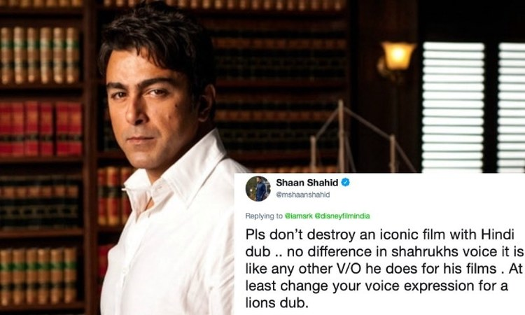 Shaan is angry at Shahrukh Khan for dubbing Lion King in Hindi