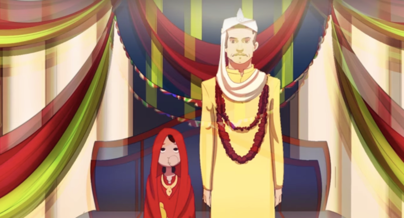 "The third animated short-film titled ""Child Marriage"" is told through the eyes of a young girl and follows the story of Mina"