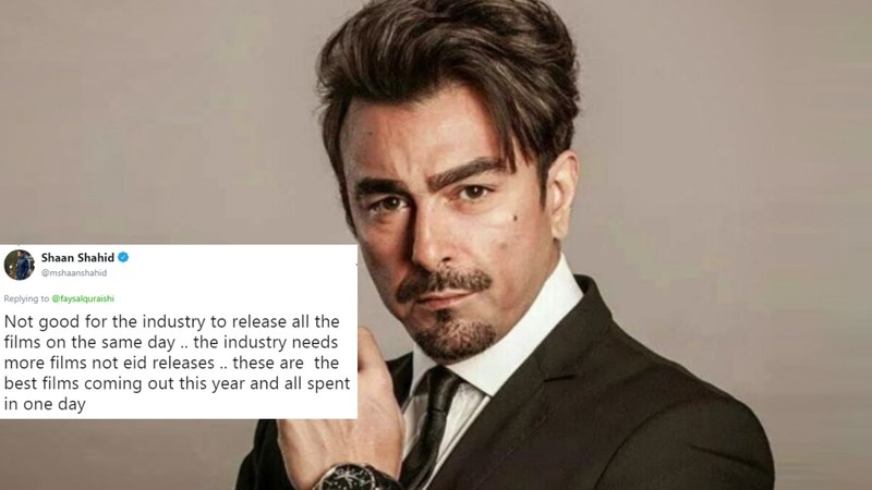 The actor questioned why Pakistan's best movies are released on the same day