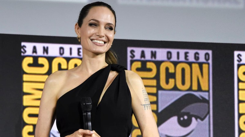 Mandatory Credit: Photo by Chris Pizzello/Invision/AP/Shutterstock (10342690d) Angelina Jolie attends the Marvel Studios panel on day three of Comic-Con International, in San Diego 2019 Comic-Con - Marvel Studios, San Diego, USA - 20 Jul 2019 — Copyright (c) 2019 Shutterstock.