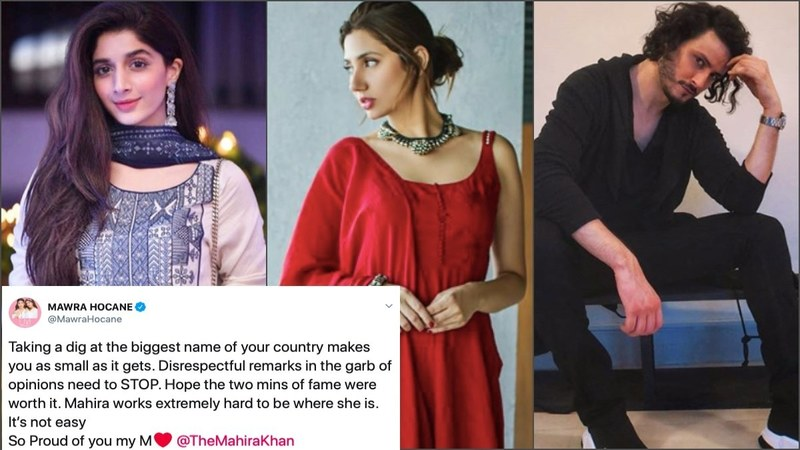 Humayun Saeed, Mawra Hocane and Osman Khalid Butt are just some of her peers defending the superstar