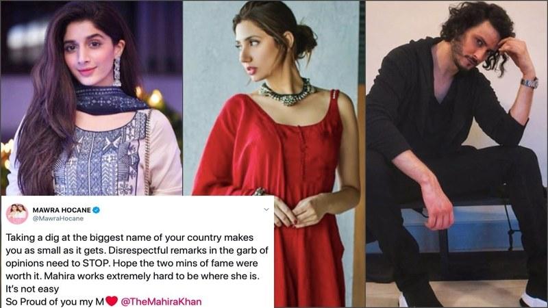 Pakistani celebs disagree with Firdous Jamal after he says Mahira
