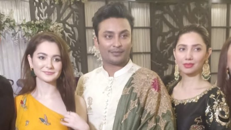 Looks like Mahira isn't done being Noori yet. Pictured: Hania Aamir, Babar Zaheer and Maria Khan