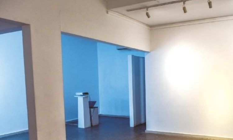 The white walls of the gallery where the pieces were supposed to be displayed.—White Star