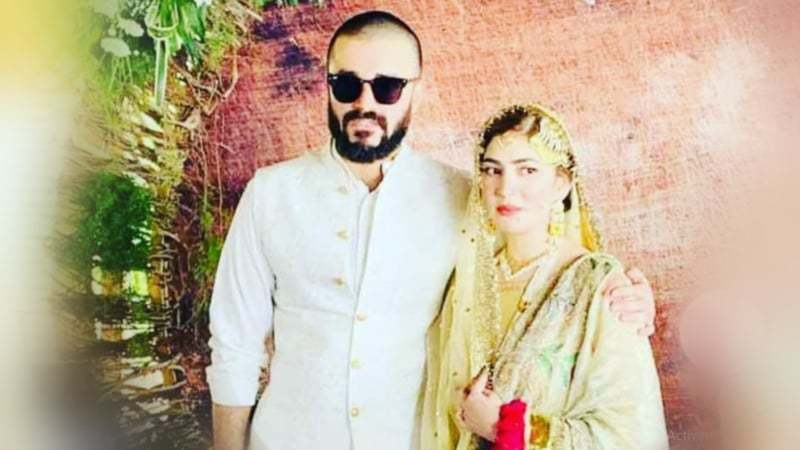 Hamza Ali Abbasi and Naimal Khawar's nikkah in pictures