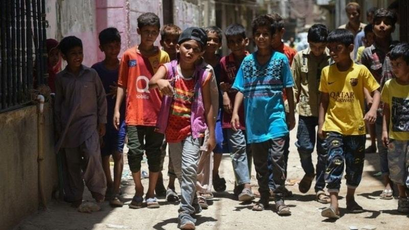 """""""I want to highlight the issues in Karachi and my own area in Lyari,"""" explains eight-year-old rapper Waqas Baloch"""
