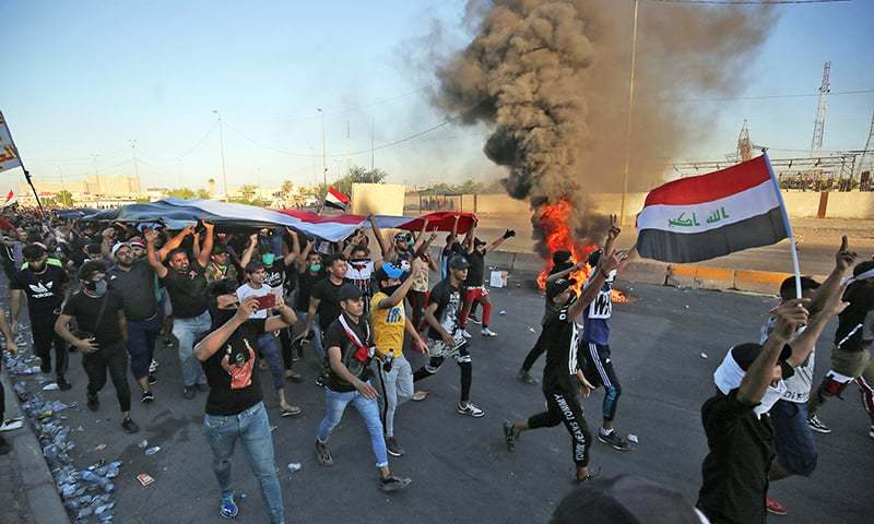 Baghdad curfew lifted but Iraq on alert for new protests