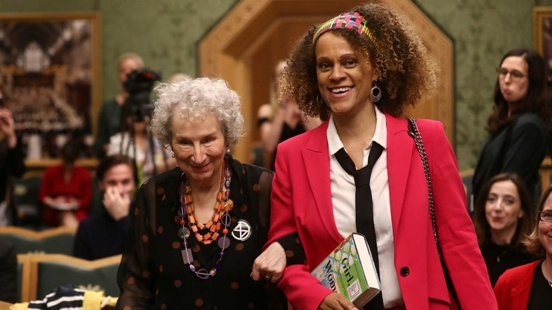 Atwood and Evaristo share fiction's Booker Prize