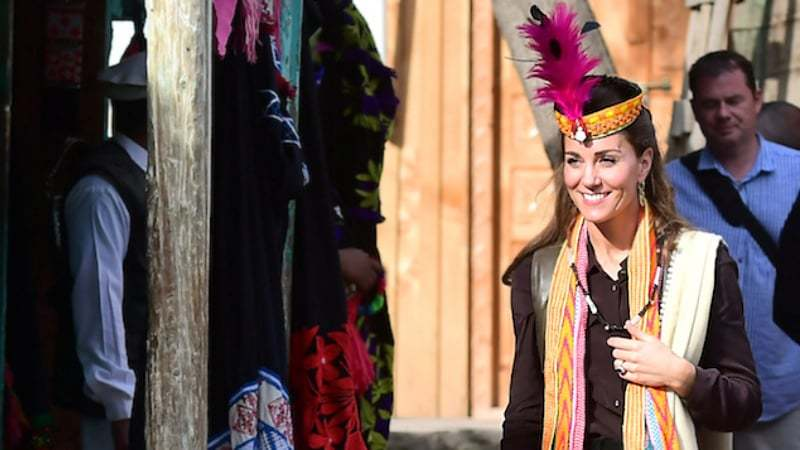 Britain's Prince William and Catherine, Duchess of Cambridge visit a settlement of the Kalash people in Chitral, Pakistan, October 16, 2019. Samir Hussein/Pool via REUTERS — 2019 Samir Hussein