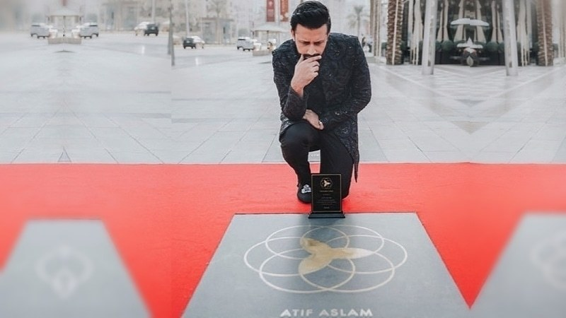 The Dubai Stars has officially been unveiled for the world to see and the singer posed with his star for the gram.